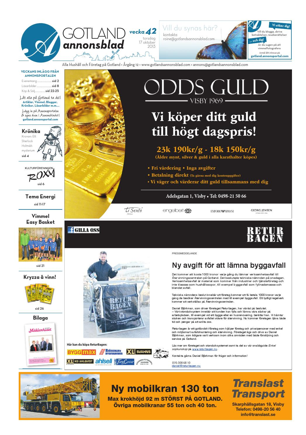 Goab 2013 vecka42 by Svenska Civildatalogerna AB - issuu b1a99947a5e4b