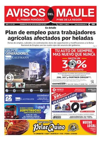 472d0c34f Edición digital semana 13 10 2013 by Avisos del Maule - issuu