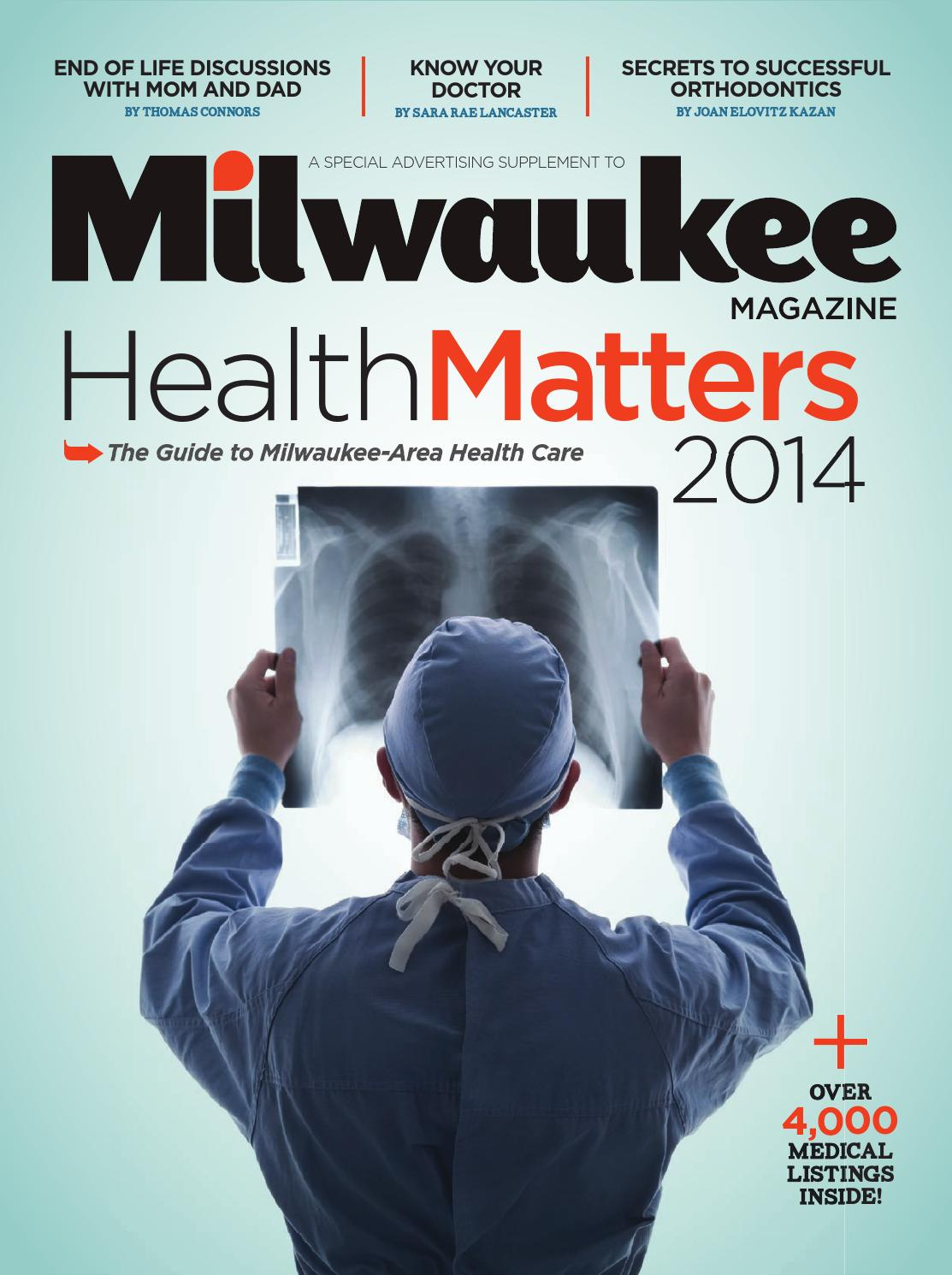 Milwaukee magazine healthmatters 2014 by milwaukee magazine issuu aiddatafo Image collections