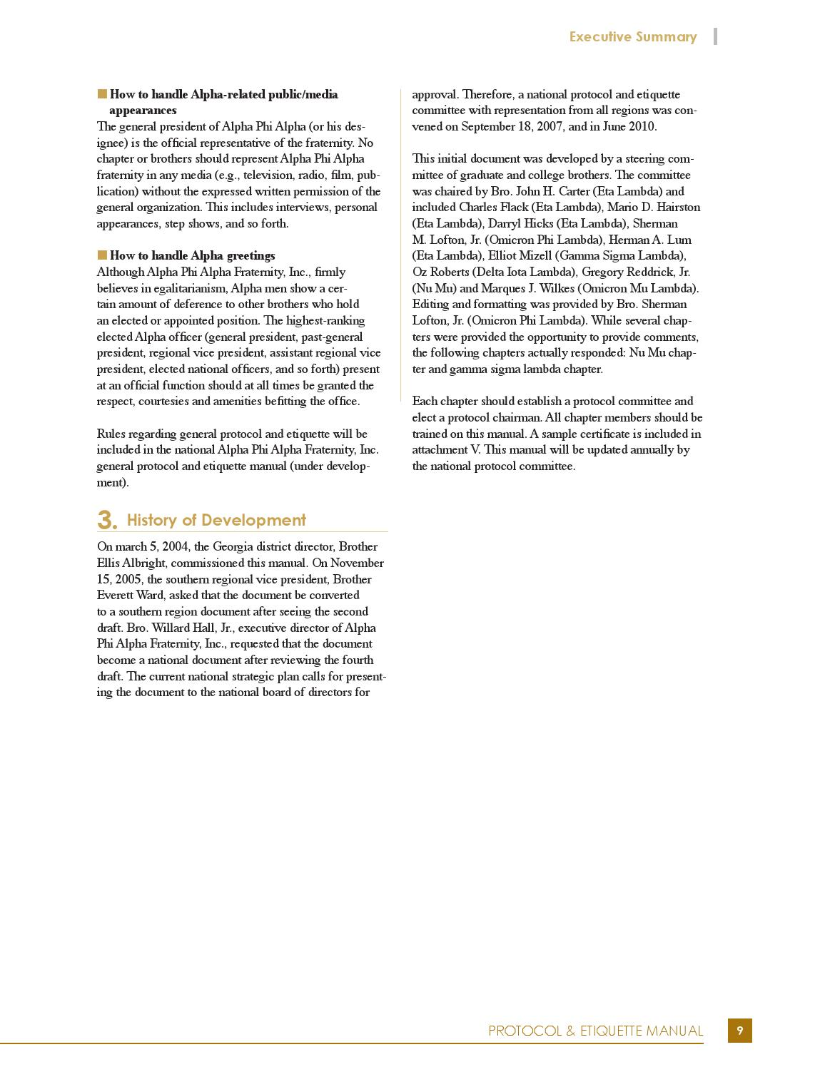 alpha protocol  u0026 etiquette manual by alpha phi alpha