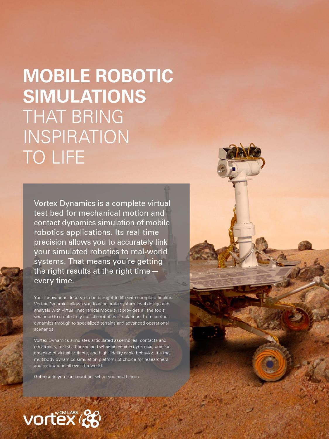 Mobile Robotic Simulations that Bring Inspiration to Life by CM Labs