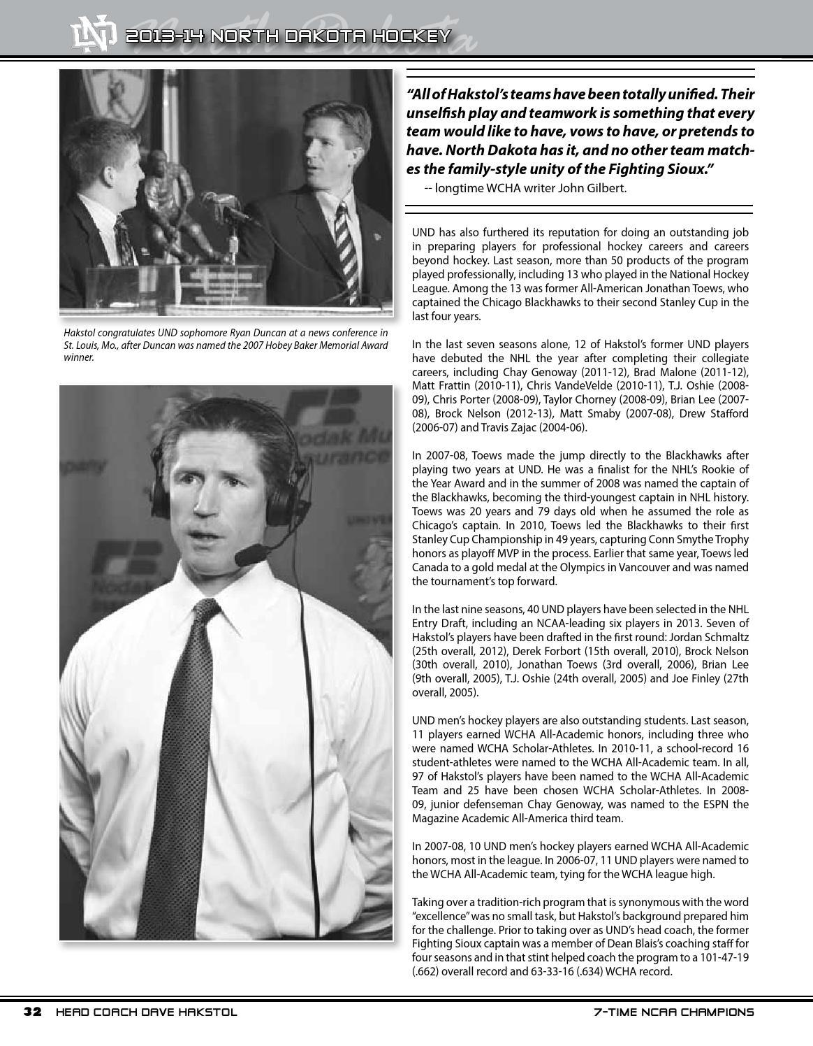 2013-14 North Dakota men's hockey media guide by University of North