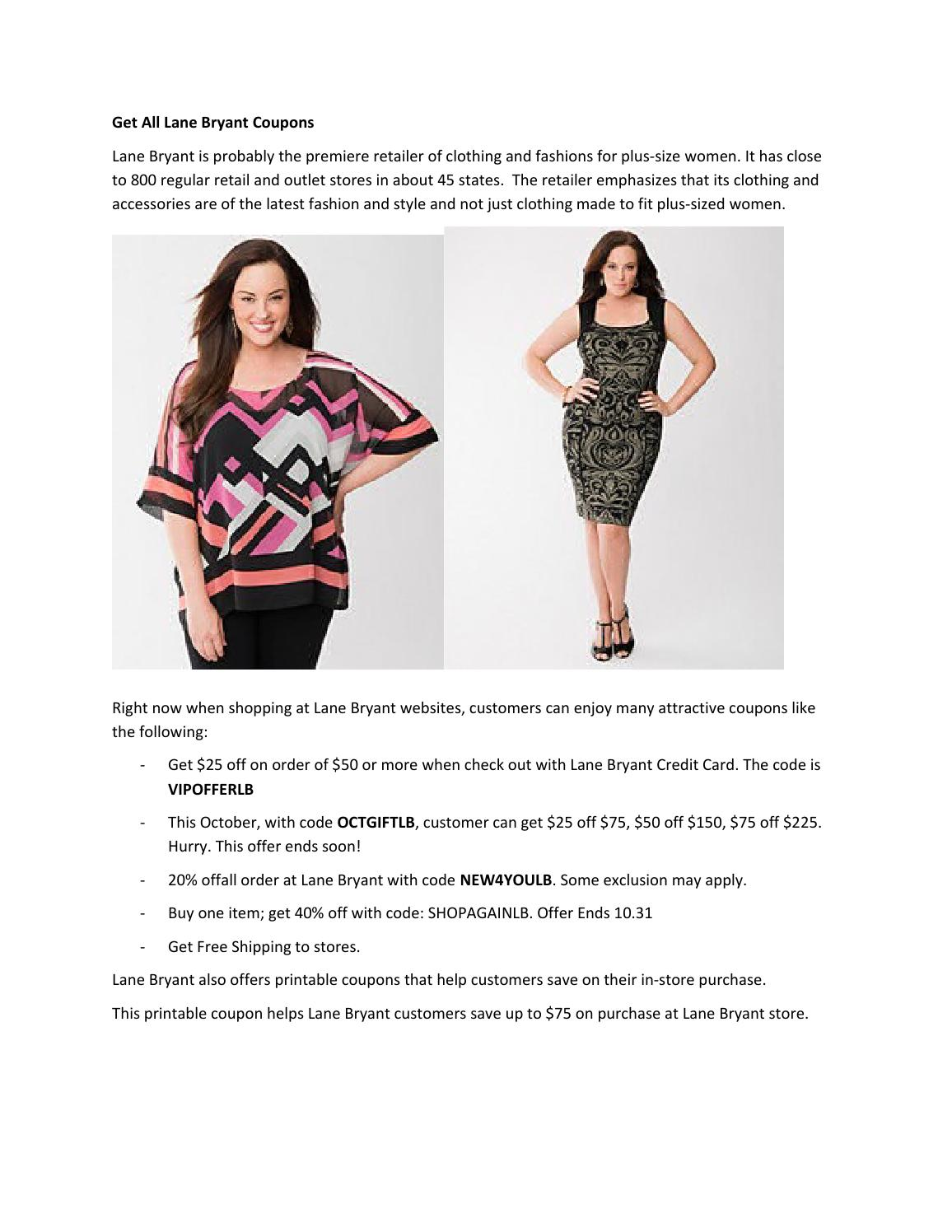 photo about Lane Bryant Printable Coupons known as Buy All Lane Bryant Coupon codes via Zhuang - issuu