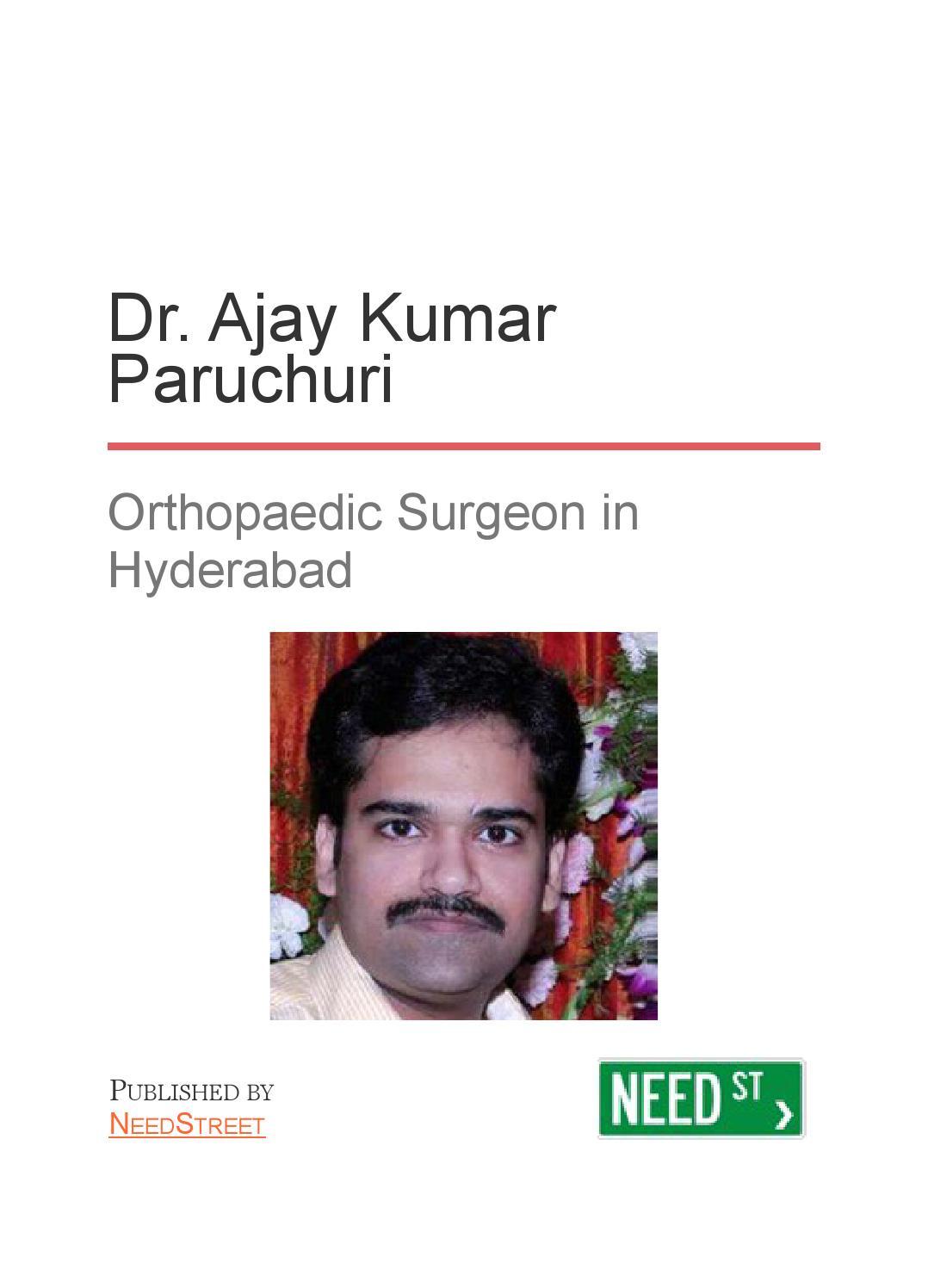 Dr  Ajay Kumar Paruchuri - Orthopaedic Surgeon in Hyderabad