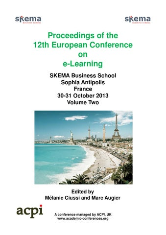 Proceedings of the 12th european conference on e learning volume two page 1 proceedings of fandeluxe Image collections