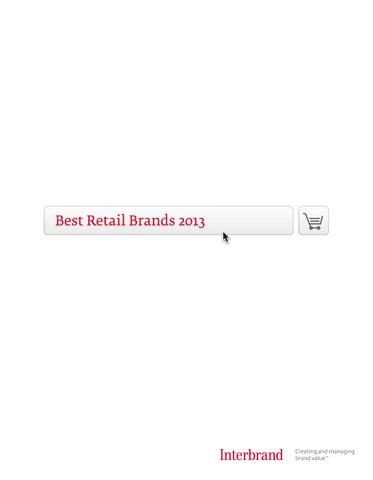 Best Retail Brands 2013 By Interbrand Issuu