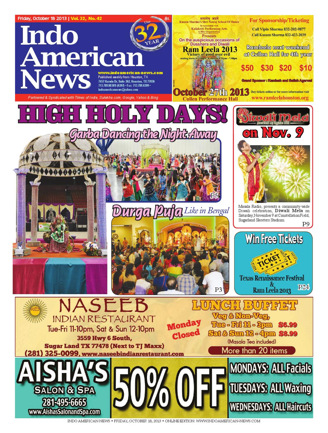 E newspaper10182013 by Indo American News - issuu