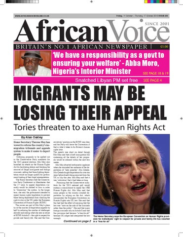 7eb4f0b16 African voice 503 by African Voice Newspapers UK - issuu