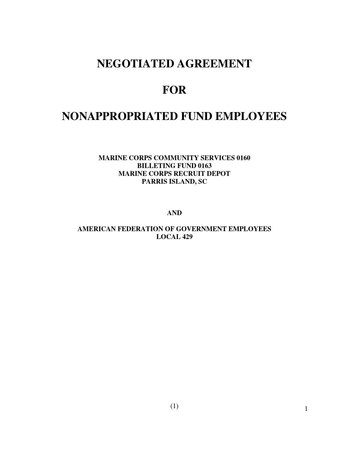 Mccs South Carolina Naf Union Contract By Mccs Issuu