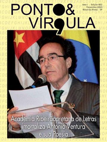 """Cover of """"Revista Ponto & Vírgula - Ano 1 - Edição 02 - Fevereiro 2013"""""""