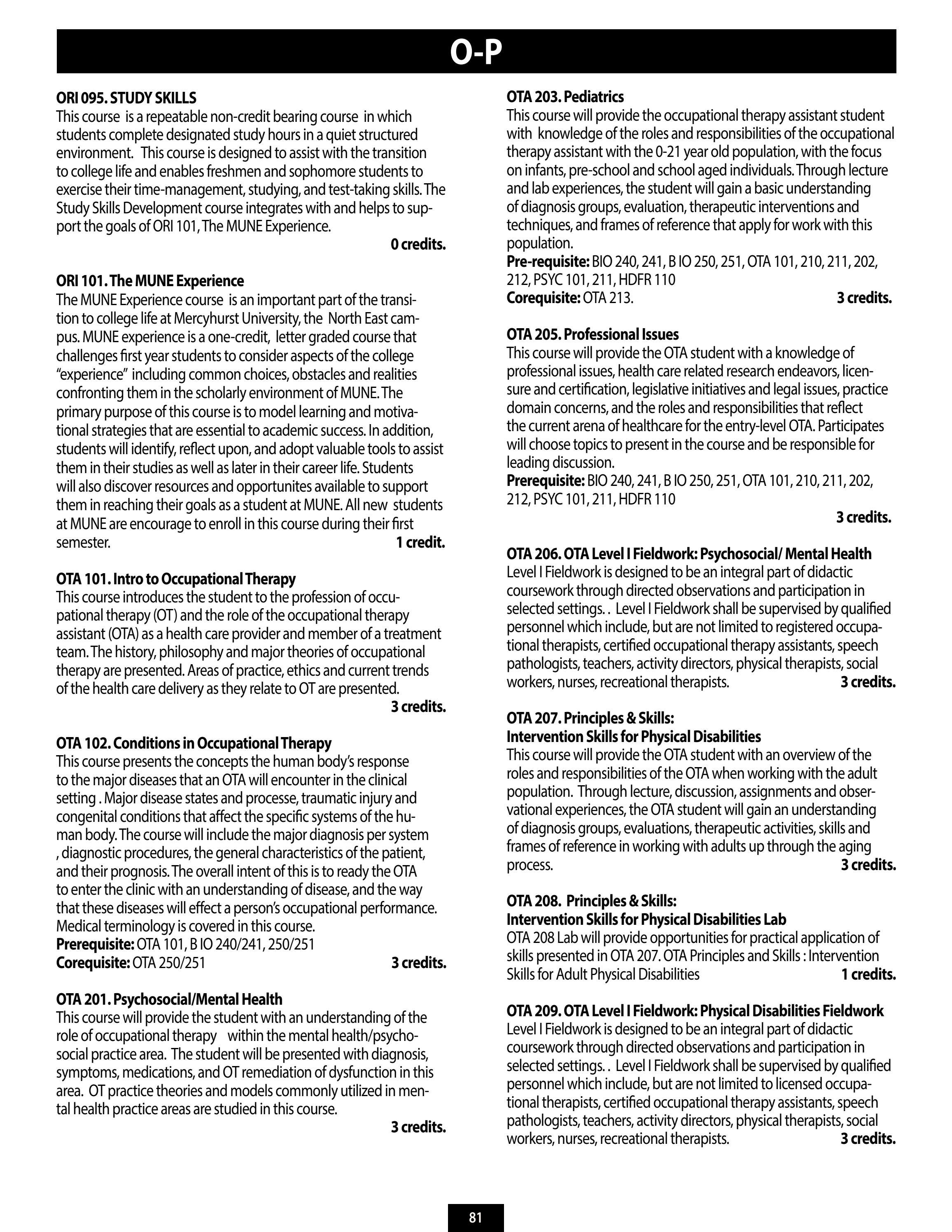MNE Course Catalog 2013-2014 by MERCYHURST UNIVERSITY - issuu