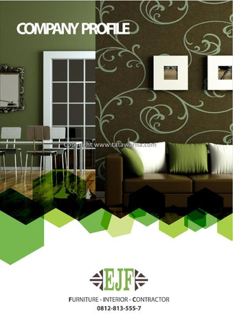 Contoh Desain Company Profile Perusahaan Furniture And Interior
