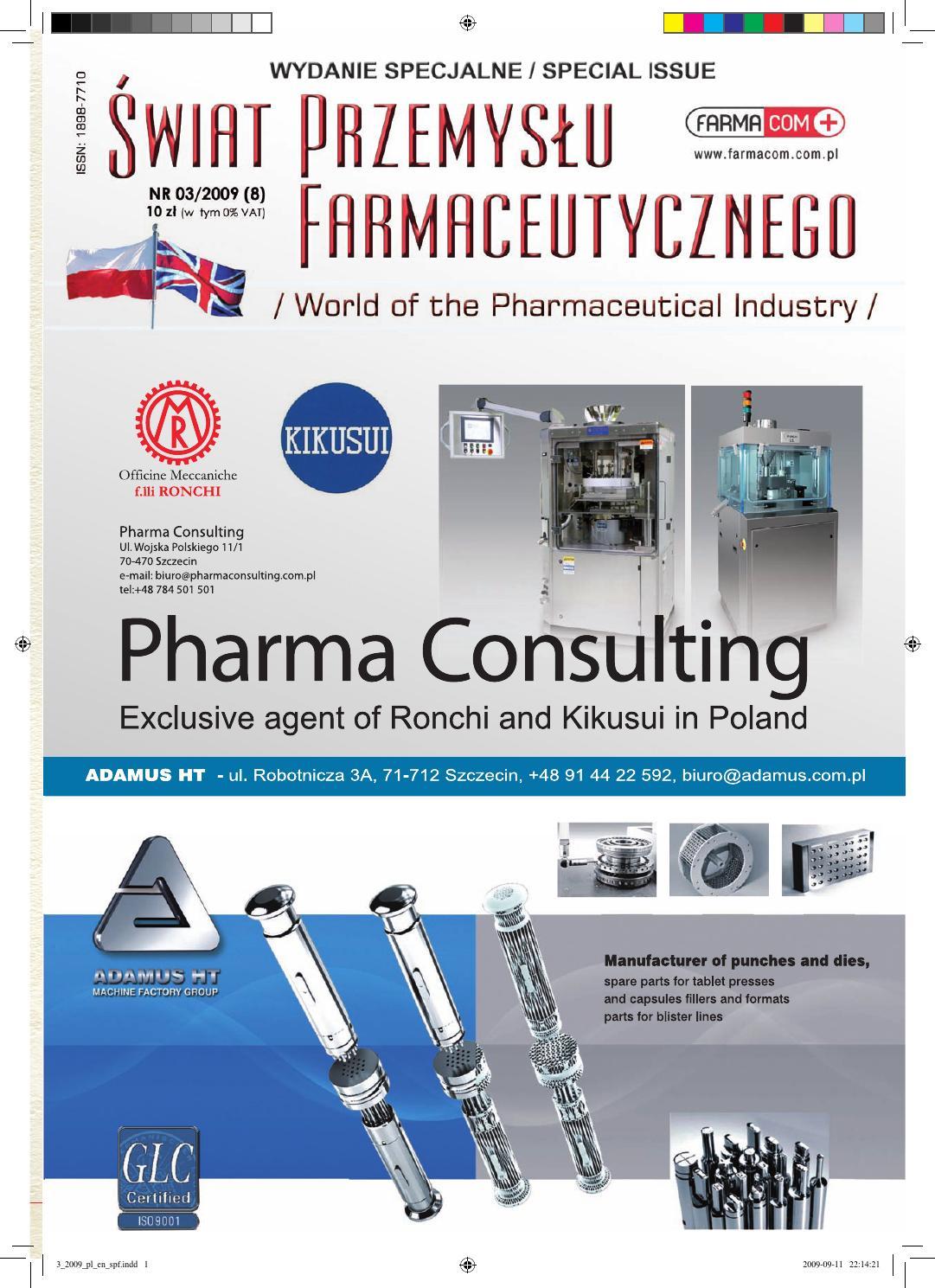 Świat Przemysłu Farmaceutycznego 3/2009 EN by Świat Przemysłu  Farmaceutycznego - issuu