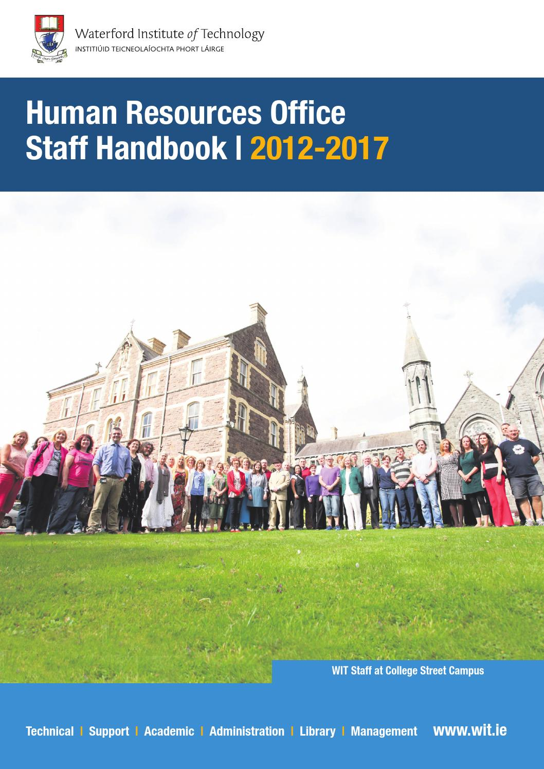 Wit staff handbook 2012 2017 by waterford institute of technology wit staff handbook 2012 2017 by waterford institute of technology issuu fandeluxe Images