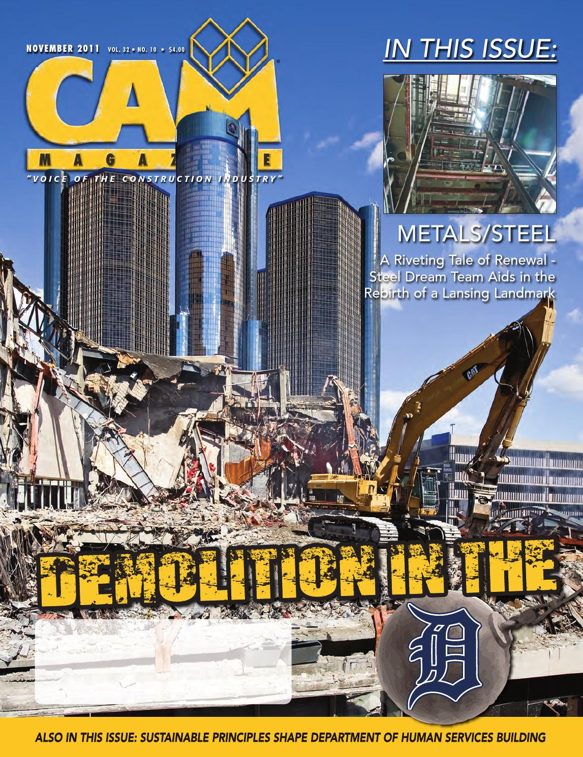 CAM Magazine November 2011 by Construction Association of