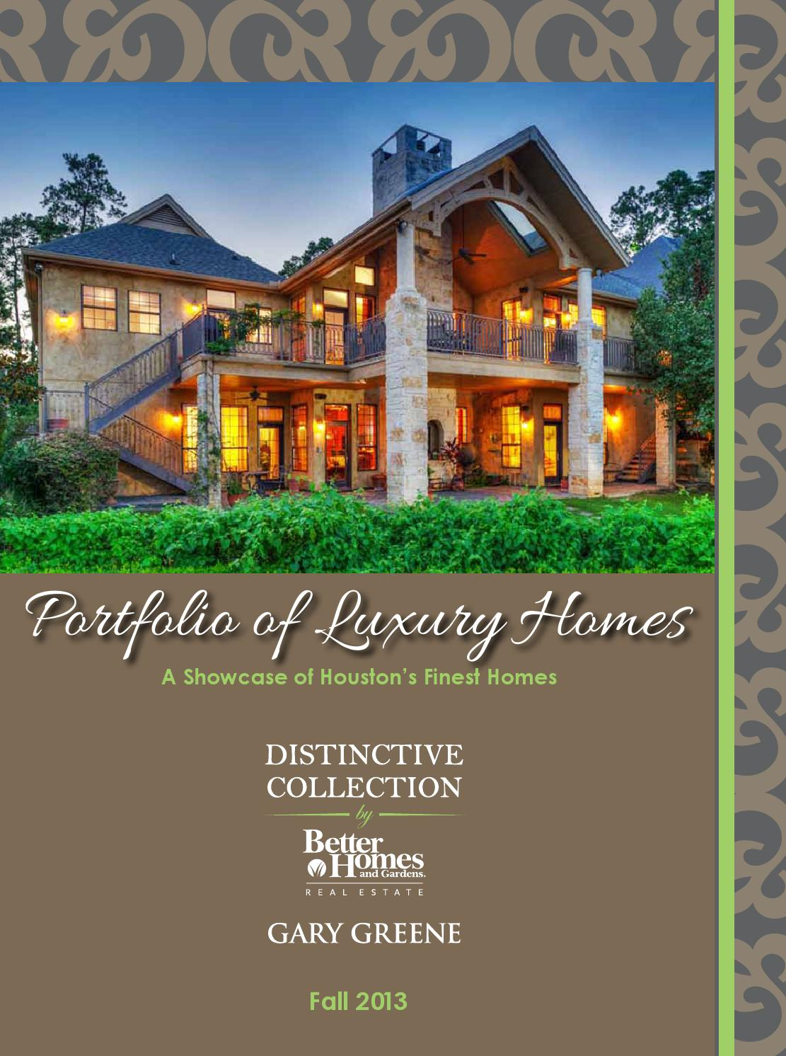 Portfolio Of Luxury Homes Fall 2013 By Better Homes And Gardens Real Estate Gary Greene Issuu