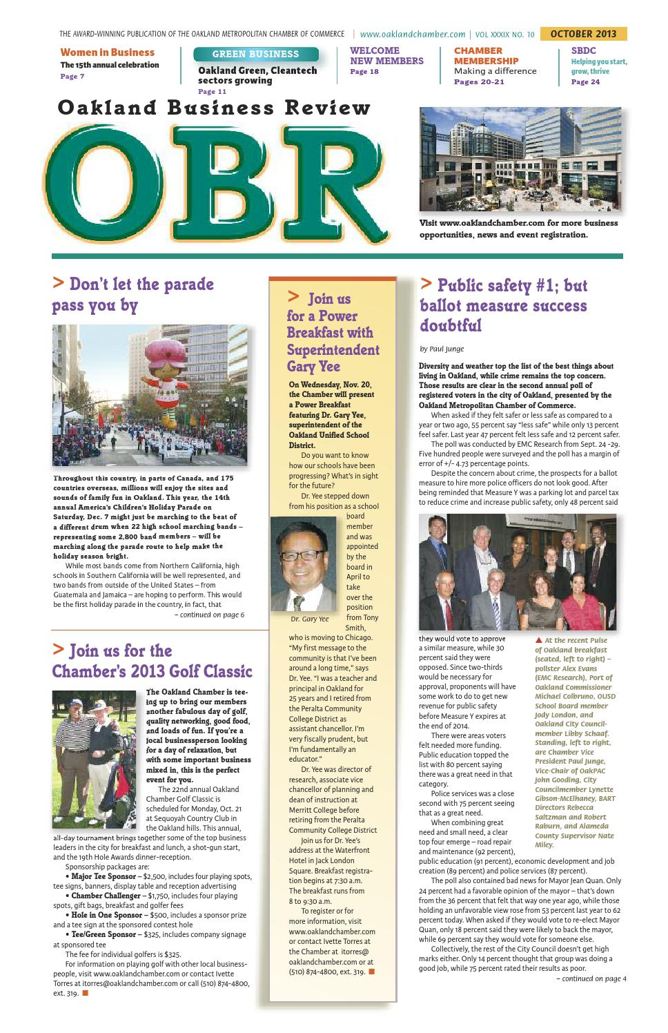Oakland Business Review, October 2013 by Oakland Chamber of Commerce ...