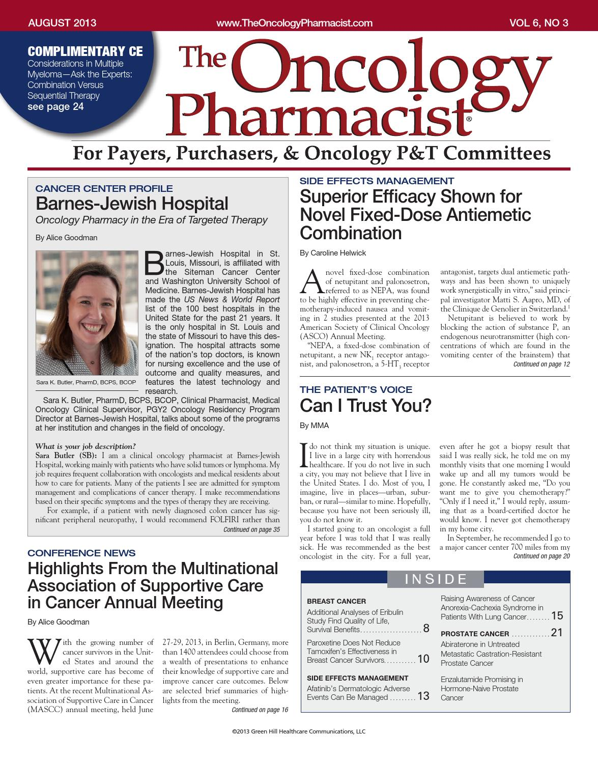 TOP AUGUST 2013 by The Oncology Pharmacist - issuu