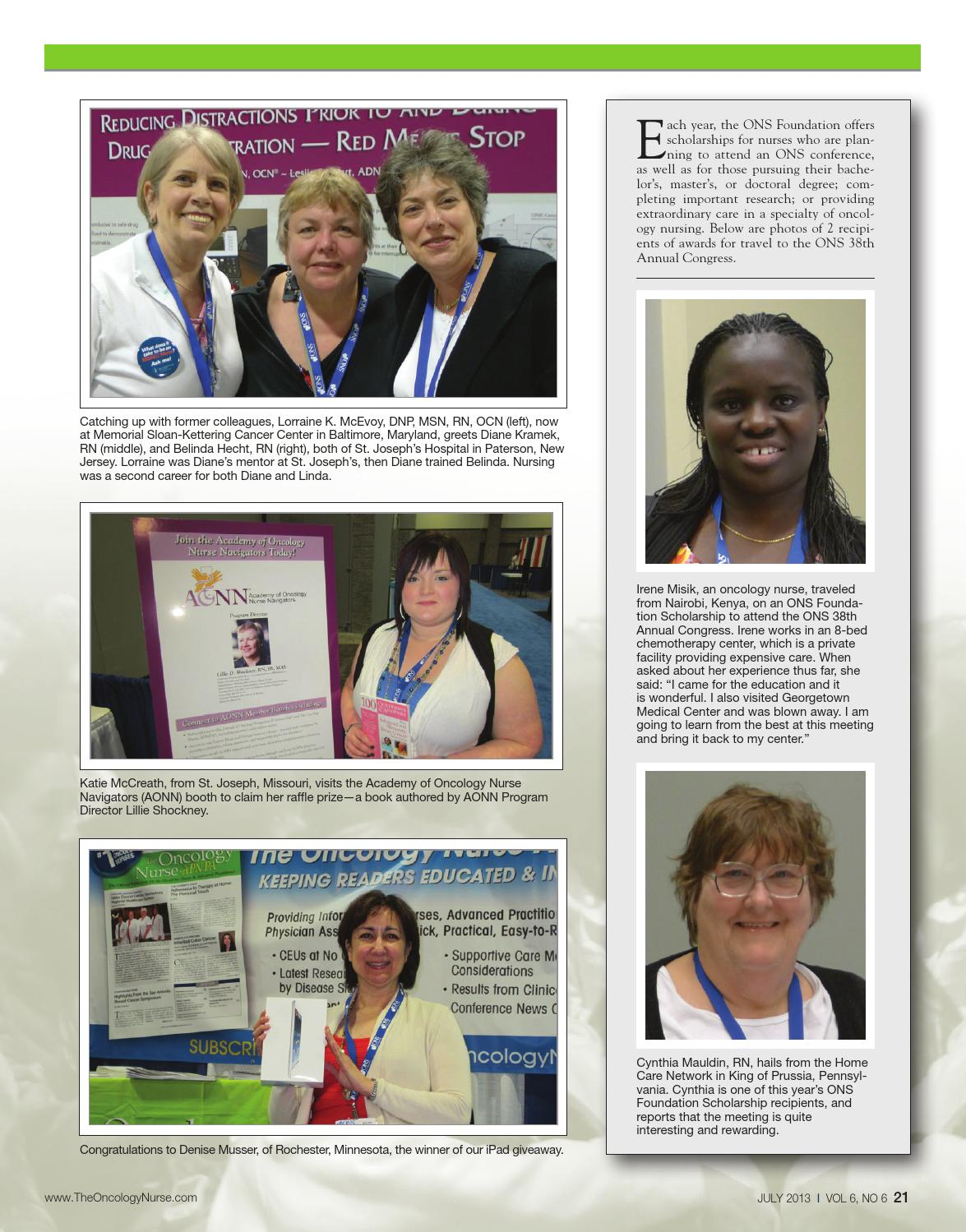 Ton July2013 By The Oncology Nurse Issuu