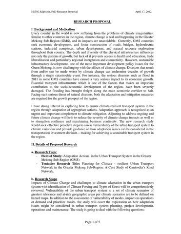 Phd research proposal biochemistry