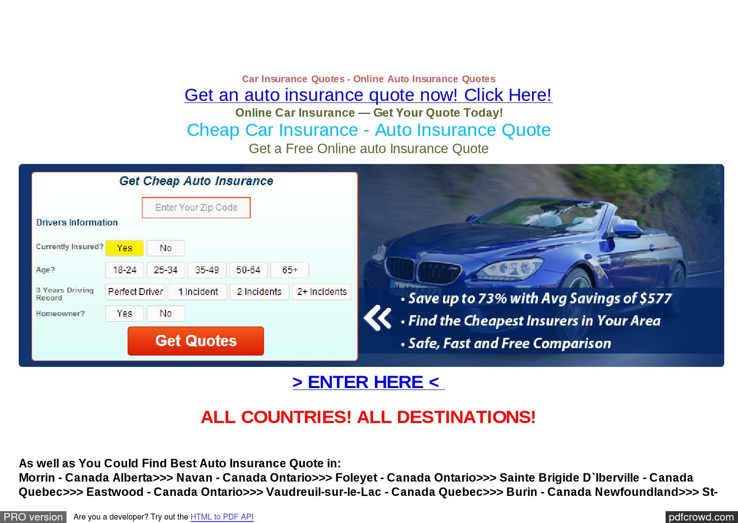 Online Car Insurance Quotes Newfoundland