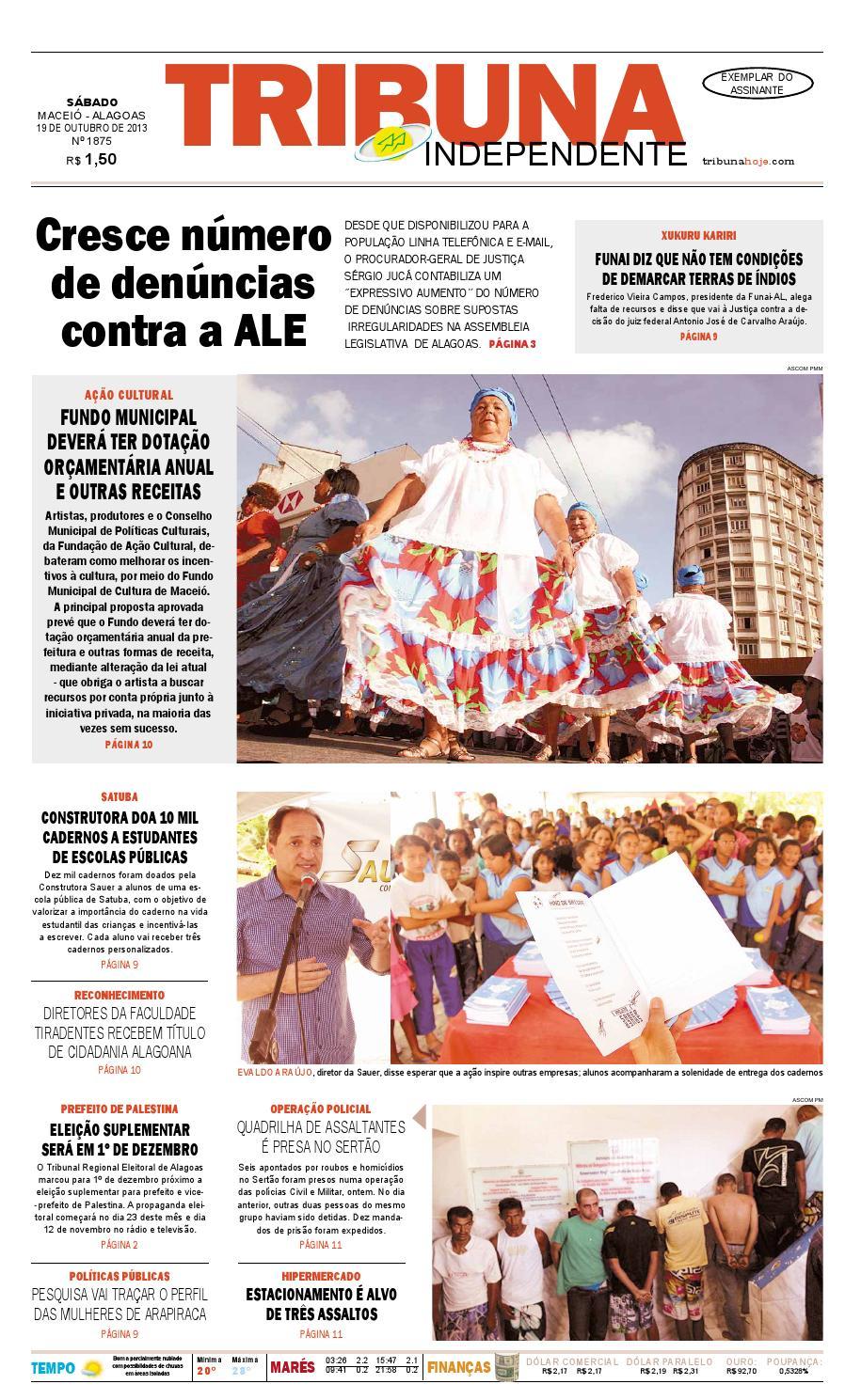 c6f31d8c3 Edição número 1875 - 19 de outubro de 2013 by Tribuna Hoje - issuu