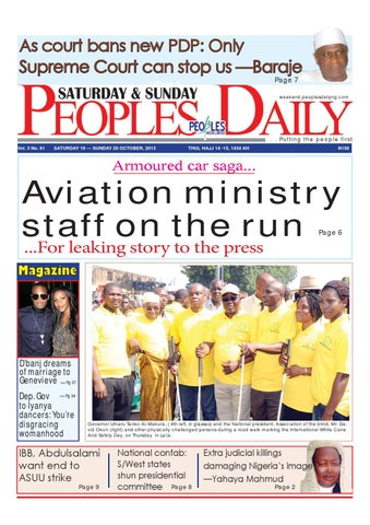 Peoples daily newspaper saturday 19 october 2013 by peoples media page 1 m4hsunfo