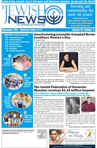 The Jewish News November 2013 By The Jewish Federation Of Sarasota