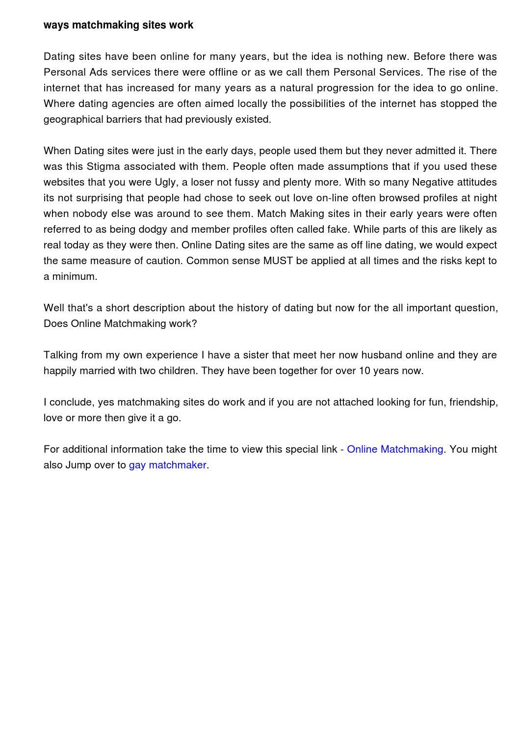 short description for dating site
