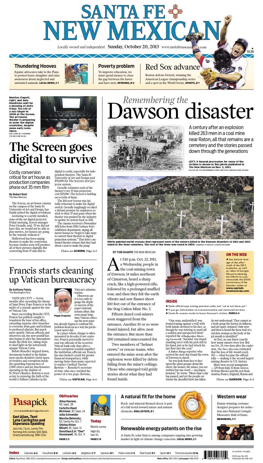 Santa Fe New Mexican, Oct  20, 2013 by The New Mexican - issuu