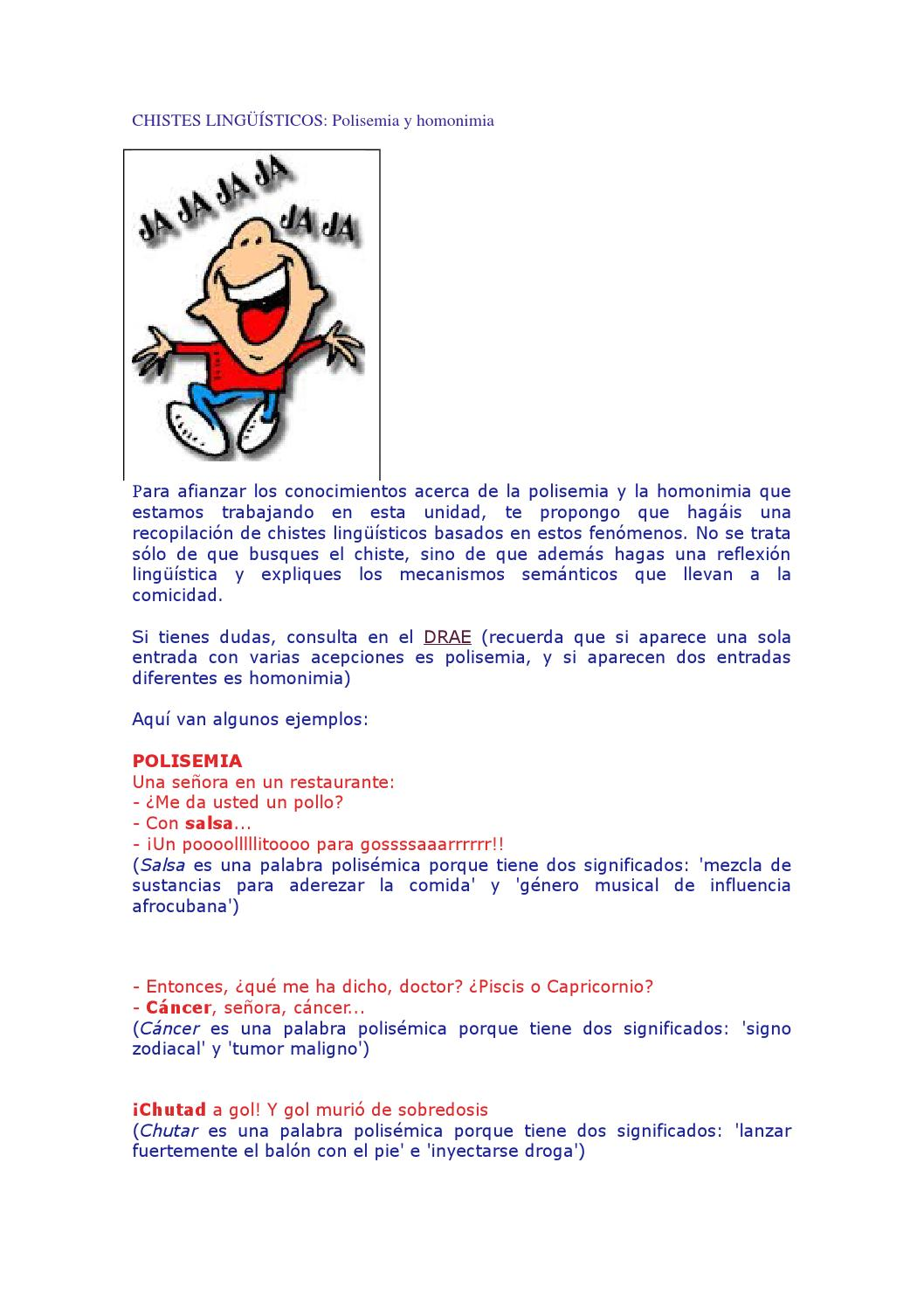 chistes ling252237sticos by ana molin233 issuu