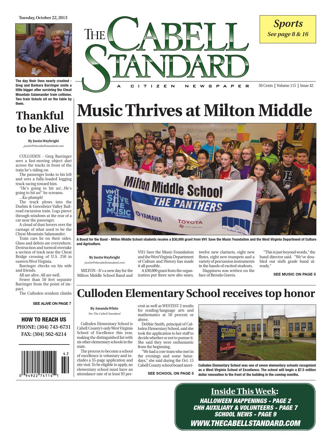 The Cabell Standard, October 22, 2013 by PC Newspapers - issuu
