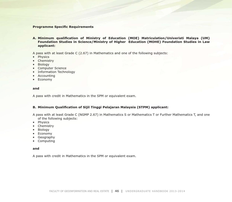 Fght Utm Undergraduate Handbook 2013 2014 By Universiti Teknologi Malaysia Issuu
