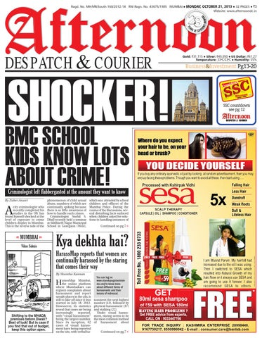 Adc 21 oct 2013 by Afternoon Despatch & Courier - issuu