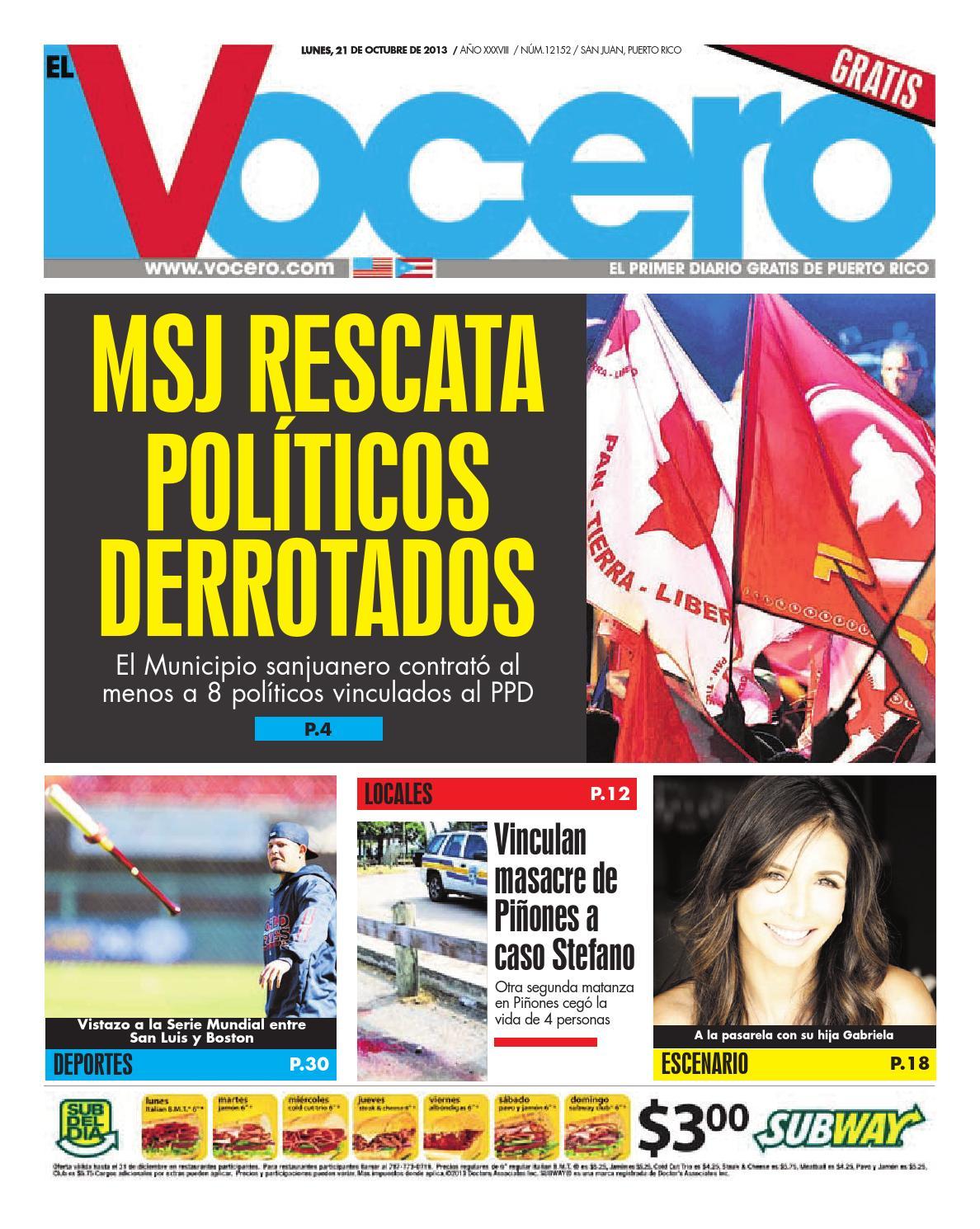 Edición 21 de Octubre 2013 by El Vocero de Puerto Rico - issuu e837f648efd