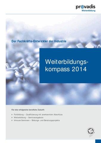 Weiterbildungskompass 2014 by Provadis Weiterbildung - issuu