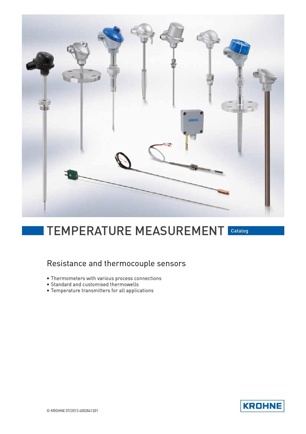 Krohne Temperature Measurement Catalog By Issuu Resistance Thermometer Wiring Diagram