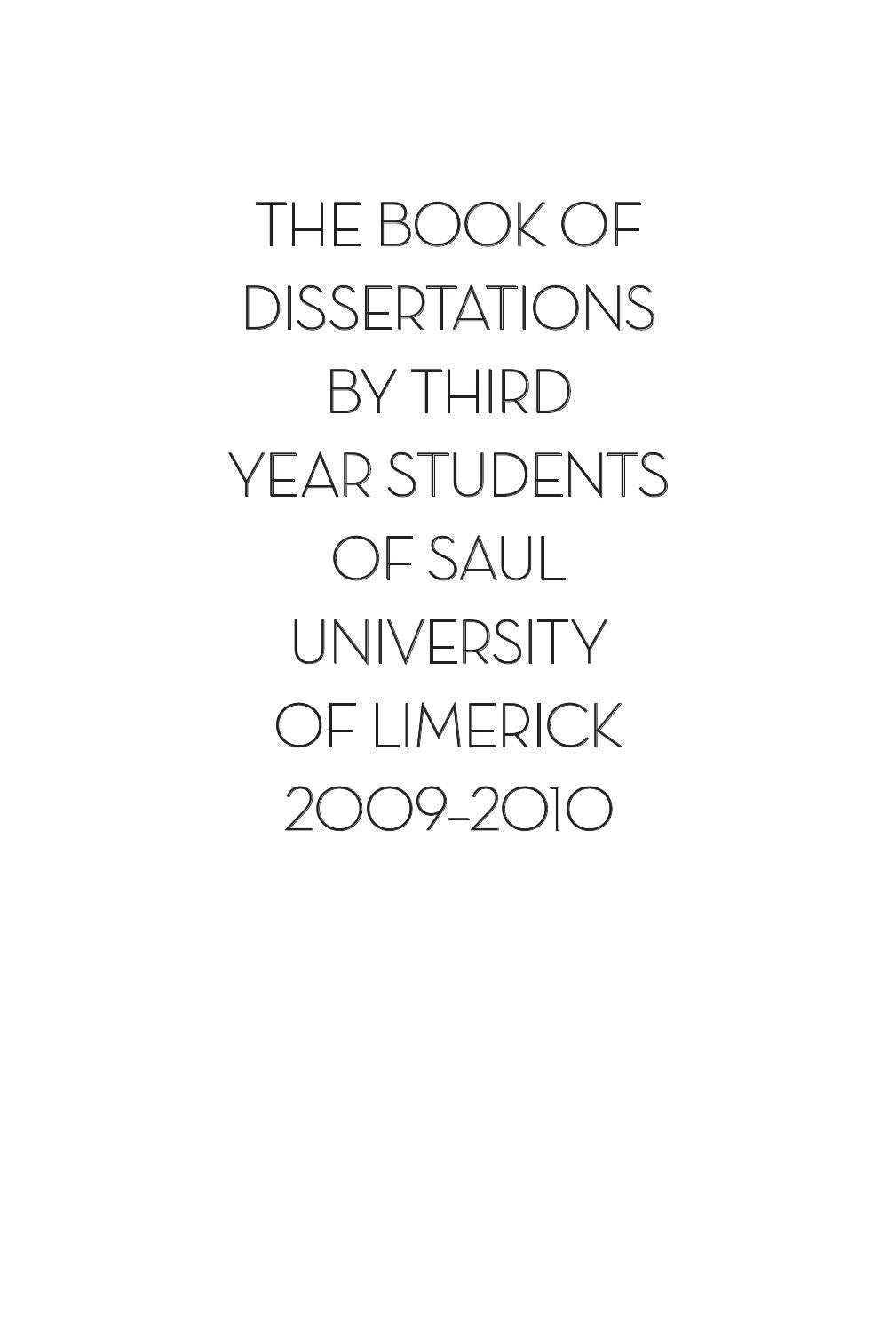 2010 book of third year dissertations saul by saul publications issuu fandeluxe Image collections