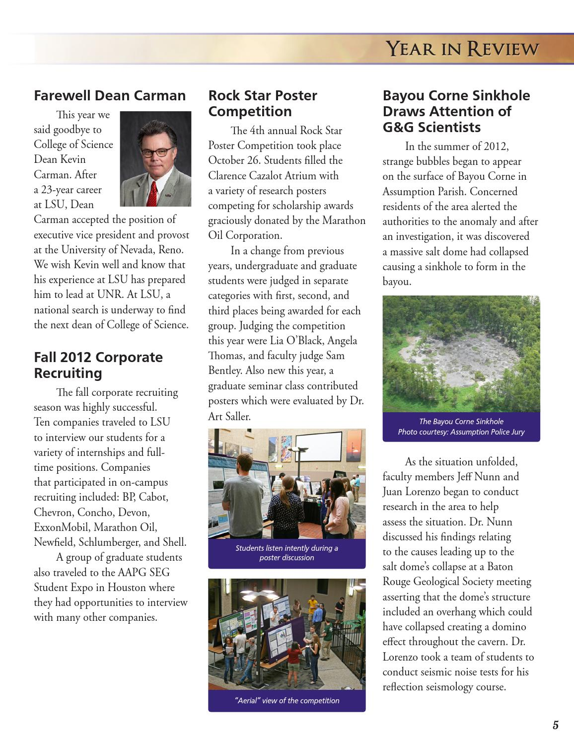 2012-13 Alumni Magazine by LSU Geology & Geophysics - issuu