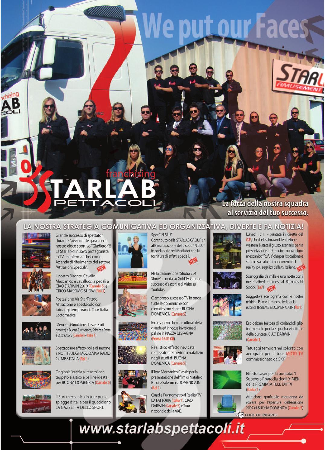 Catalogo noleggio 2011 by starlab spettacoli issuu for Starlab spettacoli