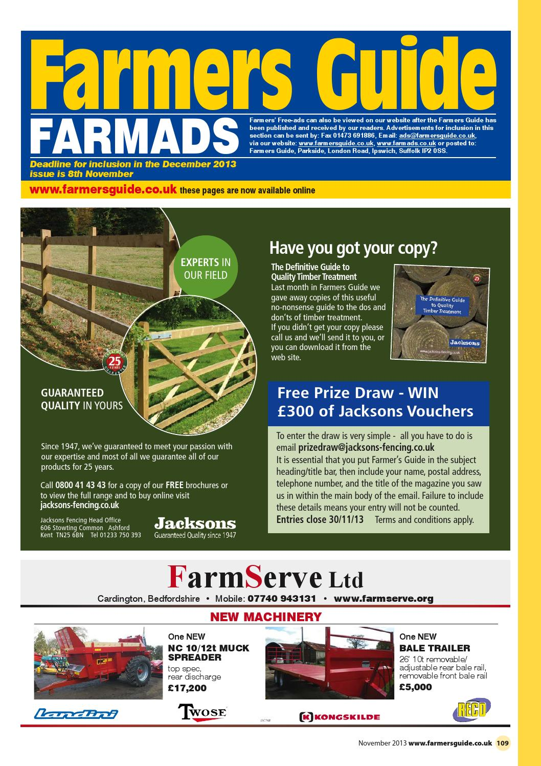 Farmers Guide classified section - November 2013 by Farmers Guide - issuu