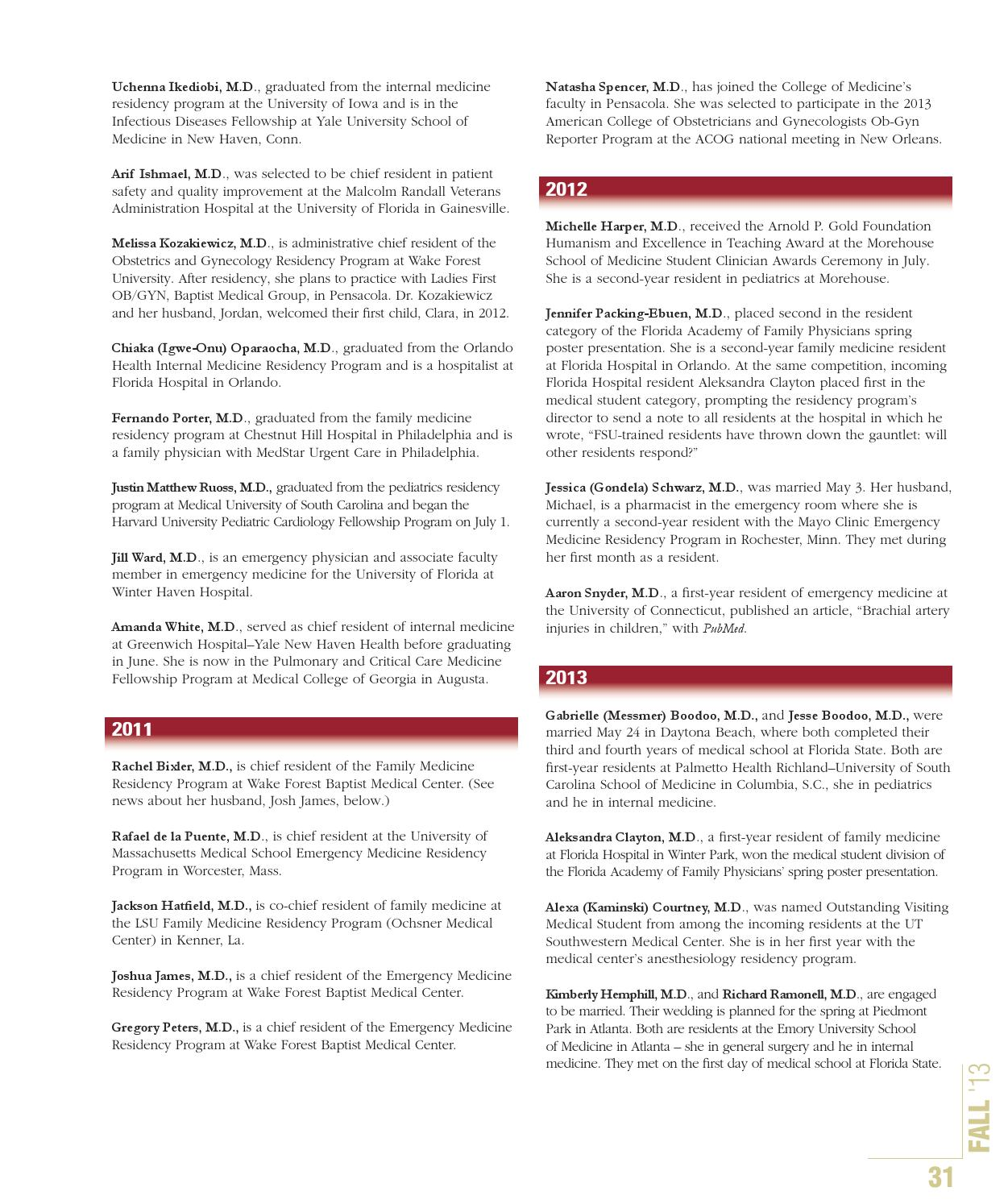 FSU MED fall 2013 by FSU College of Medicine - issuu