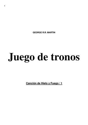 Cancion hielo y fuego 1 juego de tronos george r r martin by Tomas ...