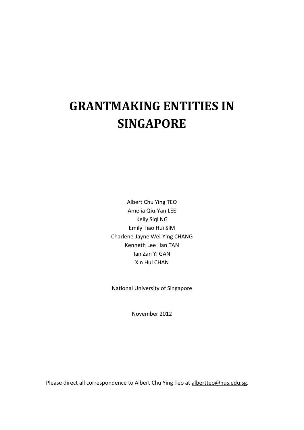 Grantmaking Entities In Singapore By Asiaengage Issuu Occupational Therapy Block Diagram Hainan Cancer Rehabilitation