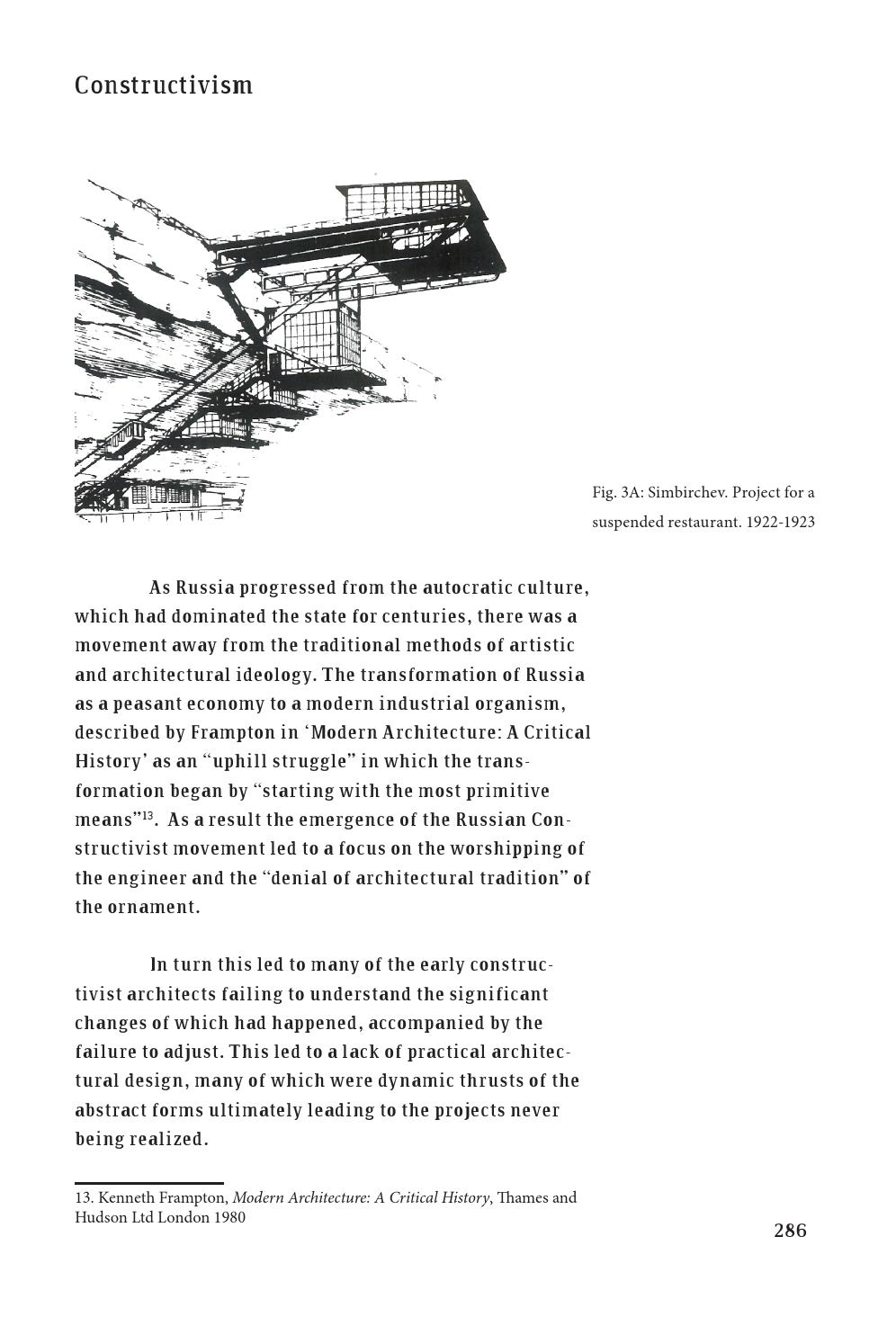 Modern Architecture A Critical History 2013 book of third year dissertations, saul, volume 1saul