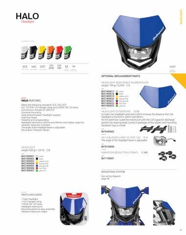 polisport off road catalogue 2014 by polisport pl�sticos sa issuu Headlight Switch Wiring Diagram headlights