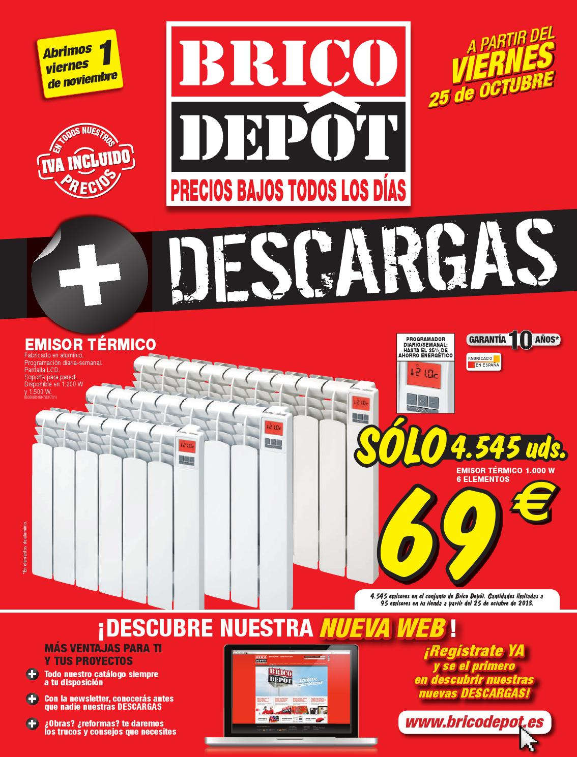 Cat logo y ofertas brico depot v lido 14 11 by broshuri for Casetas de madera brico depot