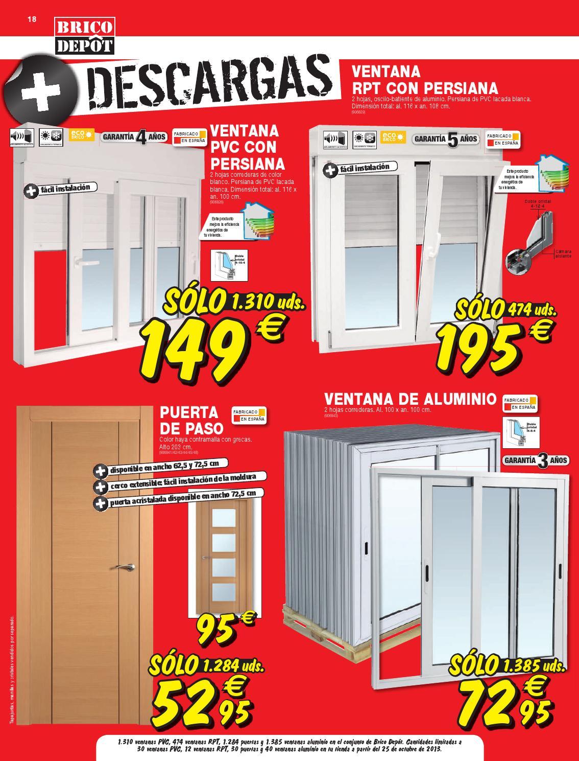 Catalogo ventanas bricodepot com anuncios de ventanas - Puertas baratas bricodepot ...