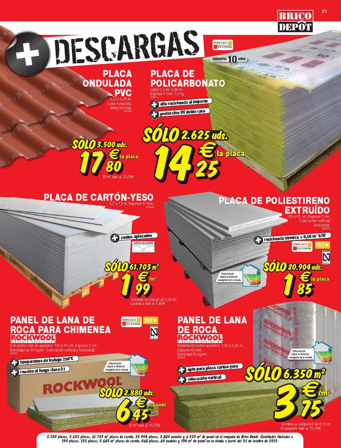 cat logo y ofertas brico depot v lido 14 11 by broshuri ForPlacas Policarbonato Bricodepot
