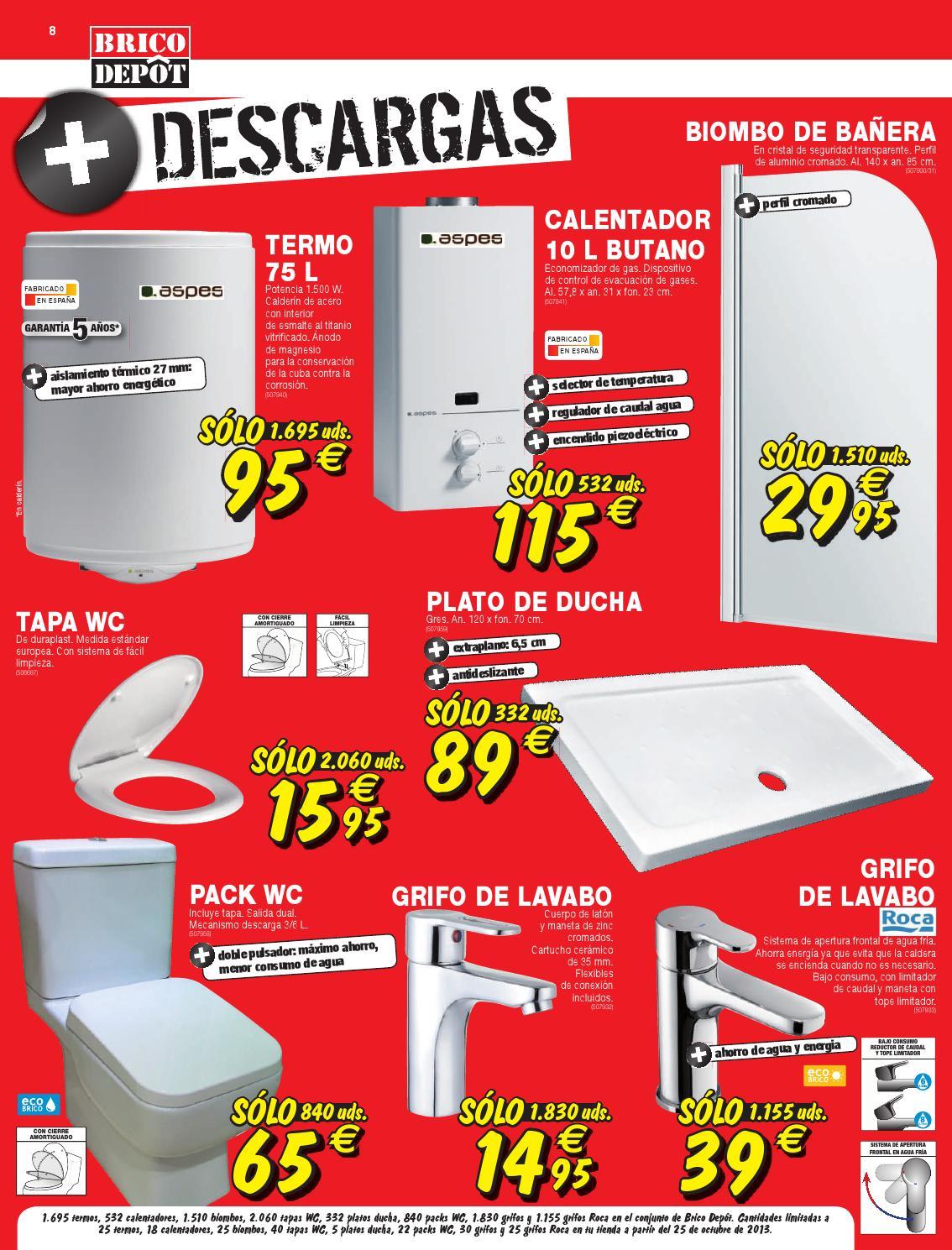 Cat logo y ofertas brico depot v lido 14 11 by broshuri for Grifo banera bricodepot